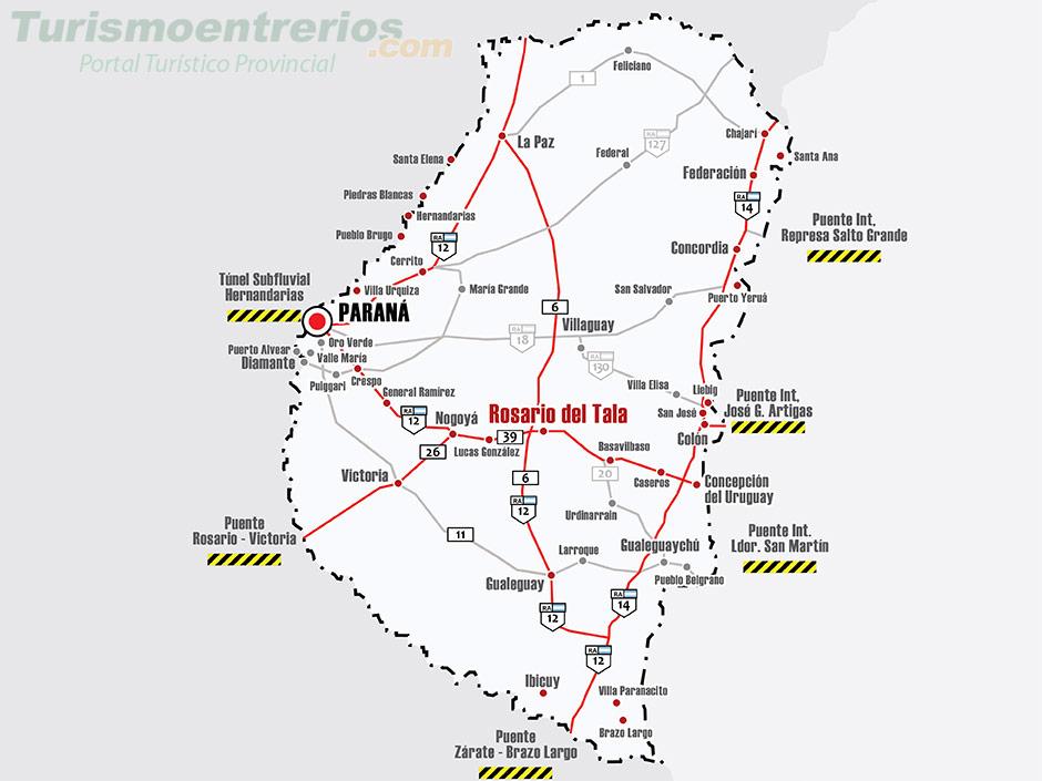 SALIDA  A ROSARIO DEL TALA 13 14 1 5  DE OCTUBRE Mapa-rutas