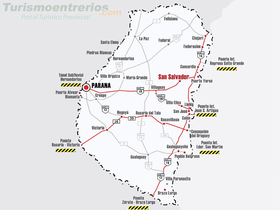 Rutas Y Accesos A San Salvador Entre Ríos Turismo Estaciones De